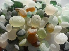 When I was a kid, my Grandpa would walk the beach looking for agates and sea glass.