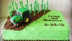 Corn Farming Tractor Cake
