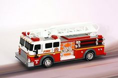 """Toy State 14"""" Rush and Rescue Police and Fire - Hook and Ladder Fire Truck (FFP) This is such a sturdy toy - not cheap plastic at all."""