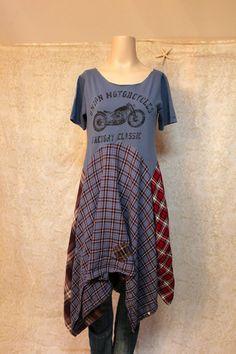 Boho Knit Dress, Bohemian Junk Gypsy Style, Cowgirl chic, Grunge Rocker Music Fest