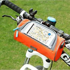 Bike Bicycle Frame Pannier Touch Screen Mobile Phone Front Tube Bag GPS Holder  | eBay