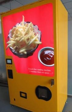 Years of labor and millions of dollars finally yield amazing french fry vendingmachine
