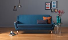 G Plan Vintage - The Fifty Five - Large Sofa in Festival Teal