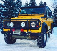 my ideal mountain ride. land rover defender ii