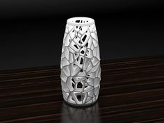 This is a voronoi lamp designed by Markellov. But we can make up to 30 cm tall. Clay Design, 3d Design, Shape Design, Module Design, 3d Printing Diy, 3d Printed Objects, Rustic Lamp Shades, White Lamp Shade, 3d Printer Projects