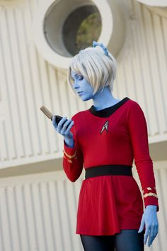 Andorian Girl - Star Trek Cosplay. I'm a sucker for good costumes