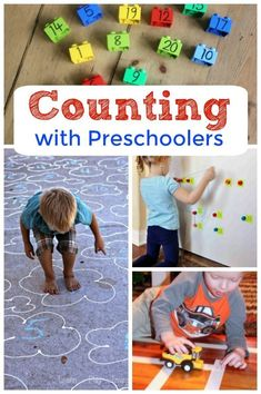 Counting activities for kids! These are the best and simplest counting activities for preschoolers - great for teaching kids their numbers. Counting Activities For Preschoolers, Preschool Math Games, Quiet Time Activities, Preschool Activities, Counting Games, Kindergarten Classroom, Space Activities, Motor Activities, Toddler Learning