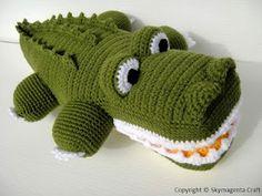 Crochet Alligator! (no pattern)