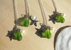 Bridesmaid Jewelry Lime Green Wedding Jewelry by BostonSeaglass