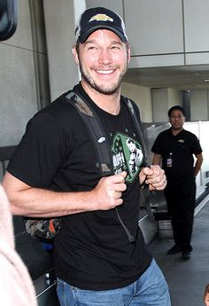 Chris Pratt — rumored to be taking over the Indiana Jones franchise — smiled his irresistible smile at LAX in Los Angeles April 13.