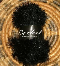 Erdal Glowlash Made in Turkey Color No 04 Lot No 02035 Black Crochet Knit by 3CsTwistedStitchers on Etsy