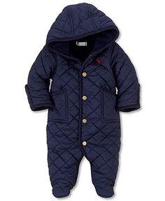 Ralph Lauren Baby Bunting, Baby Boys Microfiber Bunting - Kids Baby Boy (0-24 months) - Macy's