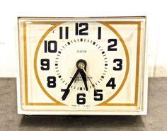 vintage alarm clock  1960s mid century Dialite clock by mkmack