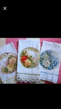 Fabric Painting, Fabric Art, Guest Towels, Tea Towels, Fabric Paint Designs, Embroidered Pillowcases, Decorative Towels, Hand Applique, Creation Couture