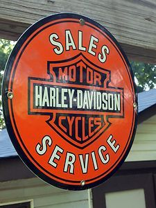 Harley Davidson Sales and Service Sign | eBay