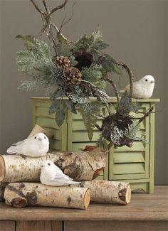 RAZ White Glittered Sitting Bird Christmas Ornament