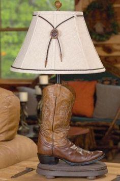 Western Decor | Decorating A Cowboy Western Boys Bedroom | Cowboy boot lamp