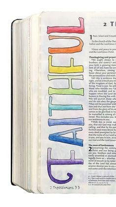 Bible Journaling: Just One Word - Artist at work Bible Text, Bible Notes, Inspirational Bible Quotes, Bible Verses Quotes, Bible Doodling, Bible Study Journal, Prayer Scriptures, Journaling, Scripture Doodle