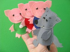 The Three Little Pigs Felt Finger Puppet