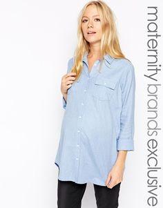 Vergrößern New Look Maternity – Chambray-Hemd