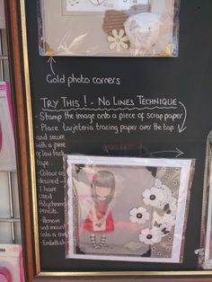 Ok so first of all this is not my idea but an idea that I saw in an art shops window in Lancaster (England). I saw this whilst out shopping.