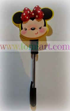 pluma decorada de minnie Miki Mouse, Lalaloopsy, Mickey And Friends, Crafts, Diy, Irene, Holidays, Pens, Jars