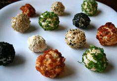 Mini Cheese Balls...more variety and bite size, brilliant idea!