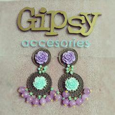 Earrings flower vintage