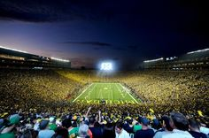 The Big House under the lights.