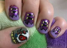 Eliv Thade (from Neopets!) nail art
