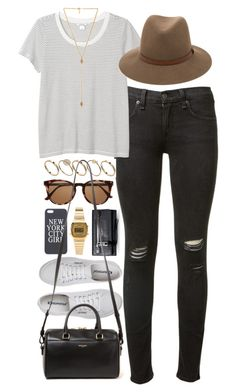 """Outfit for shopping"" by ferned ❤ liked on Polyvore featuring rag & bone, Monki, ASOS, Ettika, Marc Jacobs, Superga, Witchery, Yves Saint Laurent and Casio"