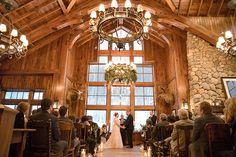This snowy destination wedding in Beaver Creek, Colorado almost has us wishing for winter again... See more now!