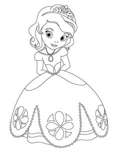 cute princess sofia disney coloring pages printable and coloring book to print for free. Find more coloring pages online for kids and adults of cute princess sofia disney coloring pages to print. Coloring Pages For Girls, Cartoon Coloring Pages, Coloring Pages To Print, Free Coloring Pages, Coloring For Kids, Free Printable Coloring Pages, Coloring Books, Disney Coloring Pages Printables, Elsa Coloring