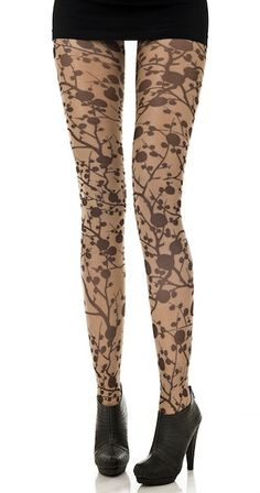These Zohara fashion print tights for women feature a fashionable and unique brown cherry print on a classic 40 denier sheer tights. A great way to keep your look trendy, fun and original.$26.95