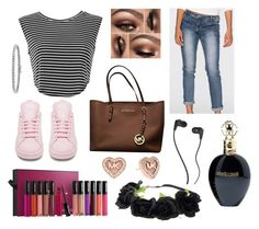 """""""Untitled #80"""" by caroline-ludwig37 on Polyvore featuring adidas, MAKE UP FOR EVER, Michael Kors, Skullcandy, Roberto Cavalli and BERRICLE"""