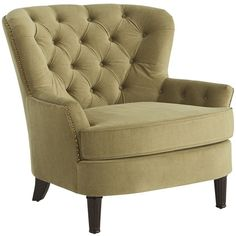 Pier 1 Imports Eliza Olive Upholstered Armchair ($440) ❤ liked on Polyvore featuring home, furniture, chairs, accent chairs, upholstered chair, pier 1 imports furniture, upholstered armchair, upholstery furniture and fabric arm chair