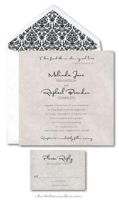 Shimmering Swirls II Wedding Invitation