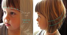 Needle and Nest Design: D.I.Y : girl's haircut.