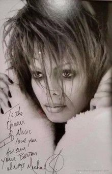 To the queen of music I love you forever your brother always Michael