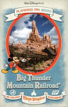 Walt Disney World Planning Pins: Streak through a haunted gold-mining town aboard a rollicking runaway mine train.
