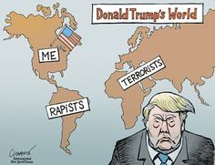 """The New York Times Opinion Section's photo. """"The World According to Donald Trump"""""""""""