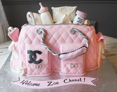 Baby Shower Cake Designs, Baby Shower Cake Decorations, Baby Shower Cakes For Boys, Baby Shower Desserts, Baby Girl Shower Themes, Baby Shower Diapers, Chanel Baby Shower, Paris Baby Shower, Baby Chanel