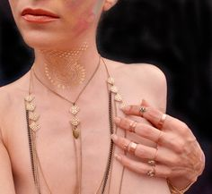 Layered Chain Necklace, 4 Layer Rope Necklace Long Body Chain Bohemian Jewelry Handmade by theELEPHANTpink on Etsy