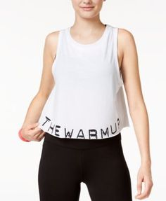 Jessica Simpson The Warm Up Juniors' Graphic Swing Crop Tank Top, Only At Macy's