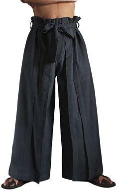 ジョムトン手織り綿の袴パンツ