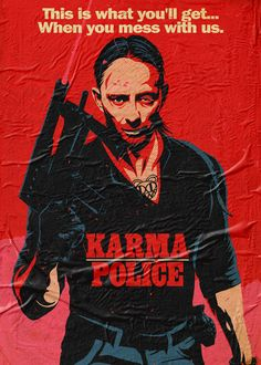 Karma Canvas Print by butcherbilly Chuck Norris, Radiohead Poster, Last Action Hero, Music Canvas, El Rock And Roll, Rock Band Posters, Hero Poster, Thom Yorke, Folk