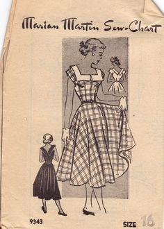 50s Dress Vintage Pattern