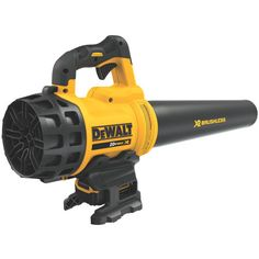 The handheld blower is quieter than most models and packs plenty of power, the manufacturer says. Photo: Dewalt
