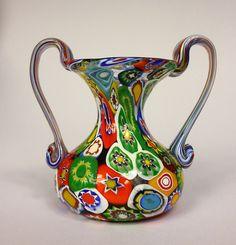 Murano Vase Fratelli Toso Italien 1950 - er Jahre