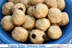 Mommy's Kitchen - Home Cooking & Family Friendly Recipes: Cafeteria Peanut Butter Oatmeal Balls